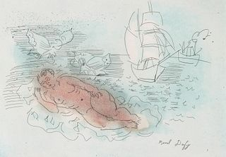 RAOUL DUFY (1877-1953) COLOR ETCHING