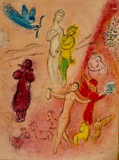 arc Chagall: 'Daphnis and Chloé'. Original colour lithographs, 1961.