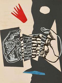 """Le Corbusier: """"Le Poème de L'Angle Droit"""". Original lithograph 1955.Framed."""