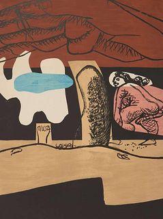 """Le Corbusier: """"Le Poème de L'Angle Droit"""". Original lithograph 1955."""