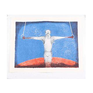 LOTE CON PRECIOS DE RECUPERACIÓN. RUFINO TAMAYO. Cruz de hierro, El Gimnasta, 1988, Sin firma, Litografía 50 / 300, Con sello de agua