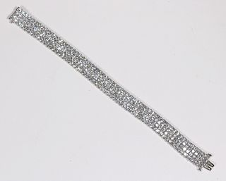 Bayco Diamond and Platinum Bracelet