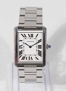 Cartier Large Tank Solo Stainless Steel Watch