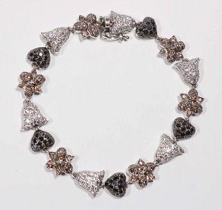 Chatila Colored Diamond & Diamond Bracelet
