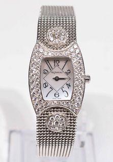 Delaneau Ladies Mother-of-Pearl & Diamond Watch