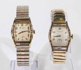 Group of 2 Bulova Manual Winding Wristwatches