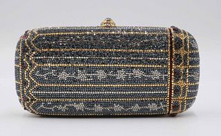 Judith Leiber Beaded and Cabochon Minaudiere