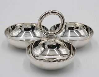 Christofle Three Part Handled Candy Dish
