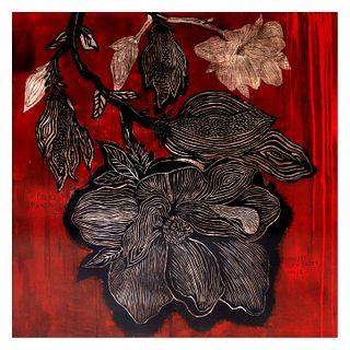 La flor en rojo 3/12 de Amador Montes