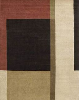 Layout Color Block 8'X10' Wool Rug