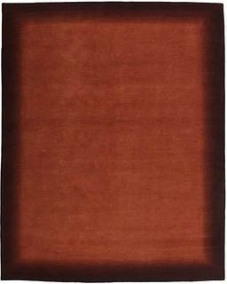 Aura Black to Rust 8'X10' Wool Rug