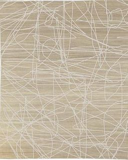 Wire Beige 8'X10' Wool Rug