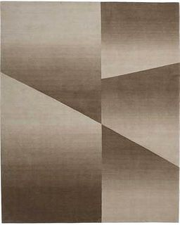 Facet Cropped Beige & Cream 8'X10' Wool Rug