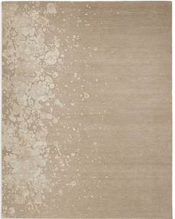 Splattered Edge Beige and Cream 6'X9' Rug