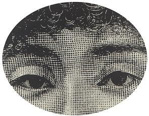 Fornasetti Face 10' Round Rug
