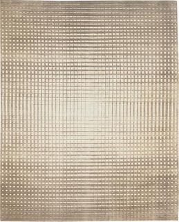 Gridlock Beige and Cream 8'X10' Wool Rug