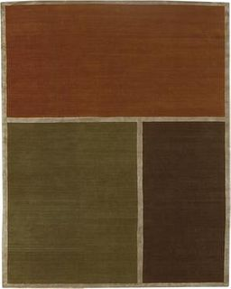 Aerial Color Blocked 8'X10' Wool Rug