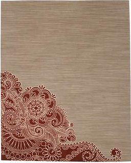 Henna Taupe Wool 8'X10' Rug