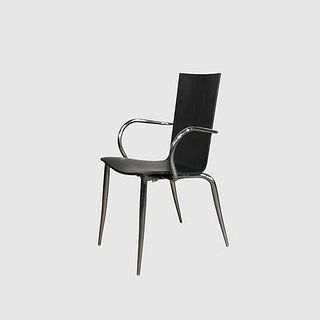 Black Wood & Chrome Dining Chair (Set of 4)