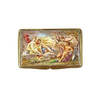 A 19th Century Viennese Enamel Snuff Box