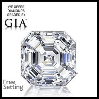 4.01 ct, E/VS1, Square Emerald cut Diamond. Unmounted. Appraised Value: $272,600