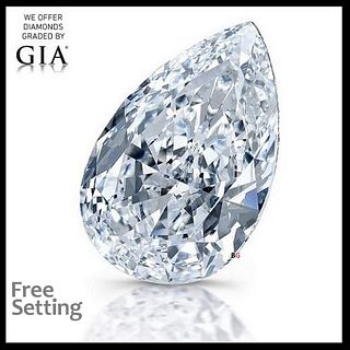 5.04 ct, H/IF, Pear cut Diamond. Unmounted. Appraised Value: $367,900