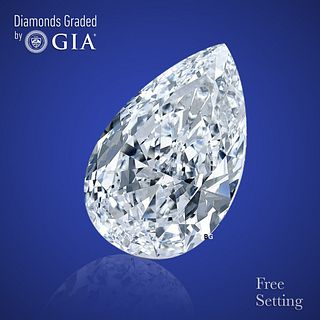 3.16 ct, G/IF, Pear cut Diamond. Unmounted. Appraised Value: $141,000