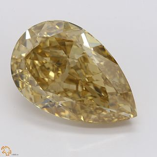 12.23 ct, Natural Fancy Brown Yellow Even Color, VVS1, Pear cut Diamond (GIA Graded), Unmounted, Appraised Value: $361,900