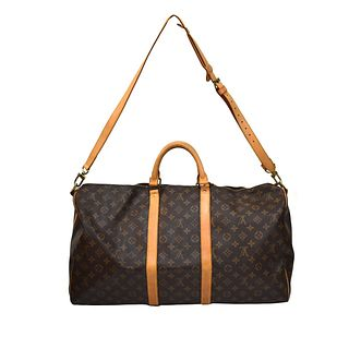 Louis Vuitton 55 Keepall Bandouliere Travel Bag