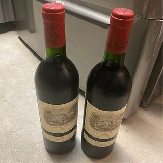 (2) Bottles of 1989 Chateau Lafite Rothschild