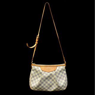 Louis Vuitton Canvas Damier Azur Siracusa Bag