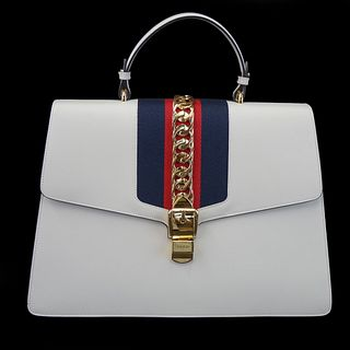 Gucci Sylvie Bag w/ Gold Chain Detail