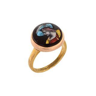 Antique 14K and Enamel Ring