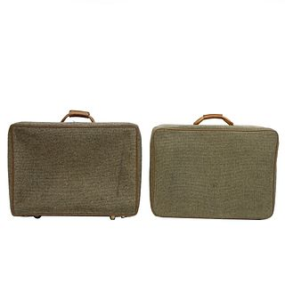 Two Vintage Hartmann Suitcases