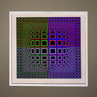 Victor Vasarely. Sin título. Serigrafía 5 / 275 - Untitled. Silkscreen 5 / 275.