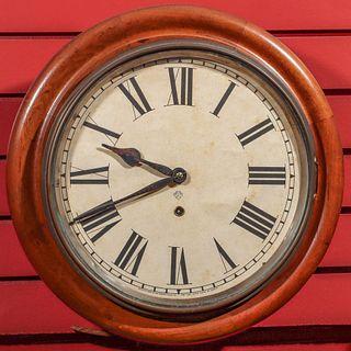 AN ANSONIA WALNUT GALLERY CLOCK