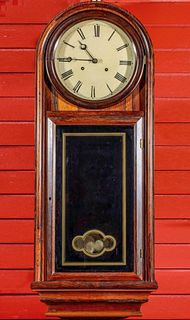 A RARE ATKINS ROUND TOP 2 WT REGULATOR IN ROSEWOOD CASE