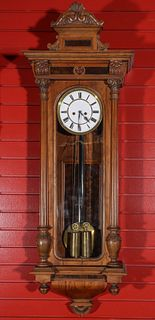 A NICE LATE 19TH CENTURY TWO WEIGHT VIENNA REGULATOR
