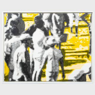 Wayne Gonzales (b. 1967): Waiting Crowd