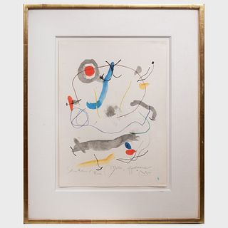 Attributed to Joan Miró (1893-1983): Untitled