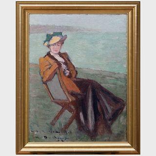Attributed to Marcel Duchamp (1887-1968): Portrait de Mademoiselle Céline Bal