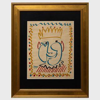 After Pablo Picasso (1881-1973): Tete de Roi