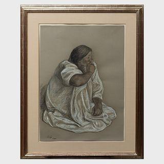 Francisco Zuniga (1912-1998): Girl in White