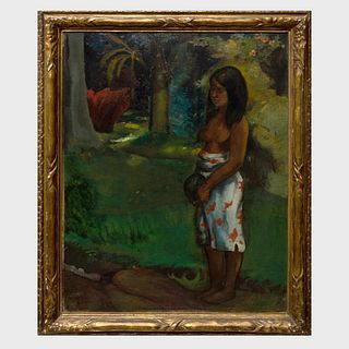Style of Paul Gauguin: Tahitian Figure in a Forest