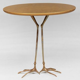 Giltwood and Bronze 'Traccia Table', Méret Oppenheim