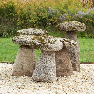 Set of Five English Staddle Stones