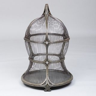 Continental Green Painted Wire Birdcage