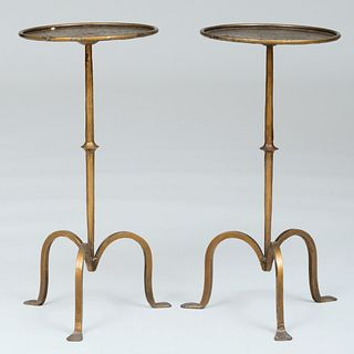 Pair of Small Gilt-Metal Drinks Tables