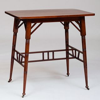 English Arts and Crafts 'Liberty Style' Carved Mahogany Table