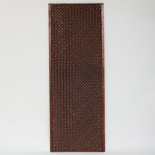 Unusual Chinese Woven Hardwood Panel